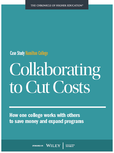 Collaborating to Cut Costs: How One College Works with Others to Save Money & Expand Programs