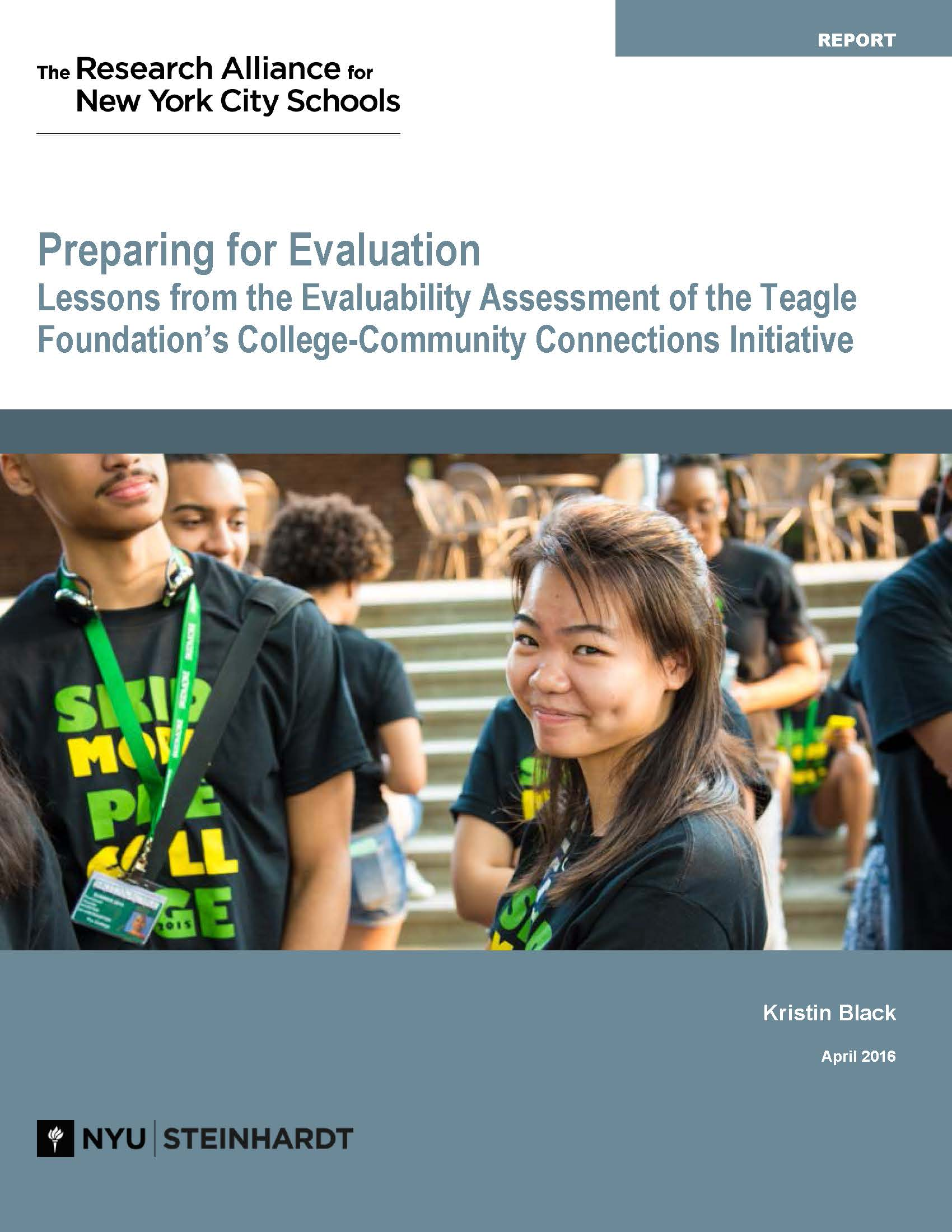 Preparing for Evaluation: Lessons from a Review of the College-Community Connections Initiative